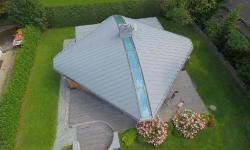 Poolhaus geschwungene Dachfläche